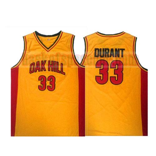 maillot oak hill Kevin Durant 33 homme jaune