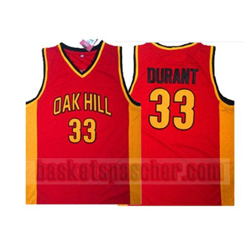maillot oak hill Kevin Durant 33 homme rouge