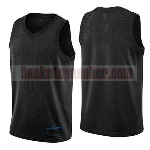 maillot oklahoma city thunder mvp Russell Westbrook 0 homme noir