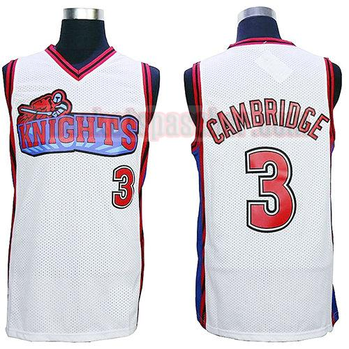 maillot pelicula knights Calvin Cambridge 3 homme blanc
