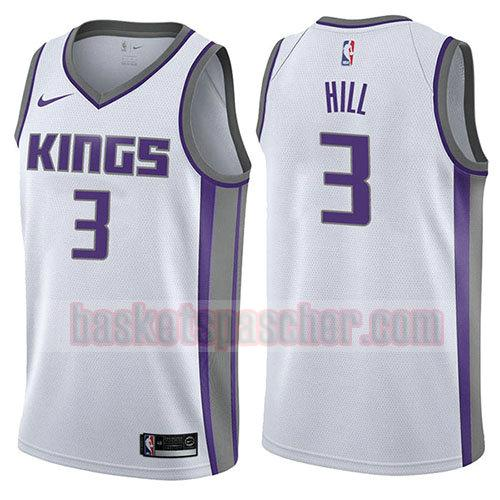 maillot sacramento kings association 2017-18 George Hill 3 homme blanc