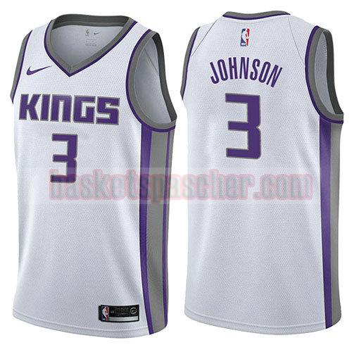 maillot sacramento kings association 2017-18 Joe Johnson 3 homme blanc