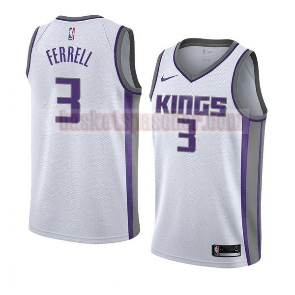 maillot sacramento kings association 2018 Yogi Ferrell 3 homme blanc