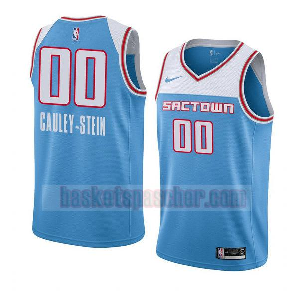 maillot sacramento kings ville 2018-19 Willie Cauley-Stein 0 homme bleu
