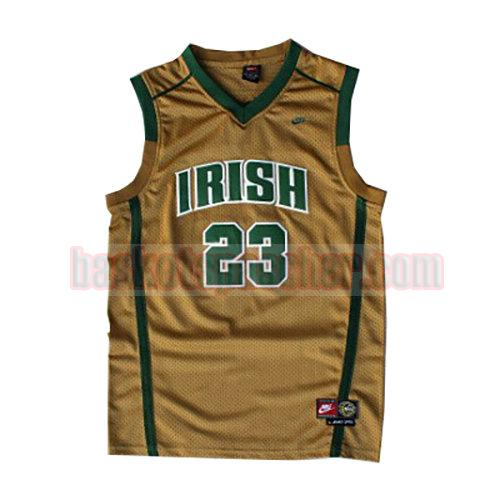 maillot st. vincent-st. mary LeBron James 23 homme d'or