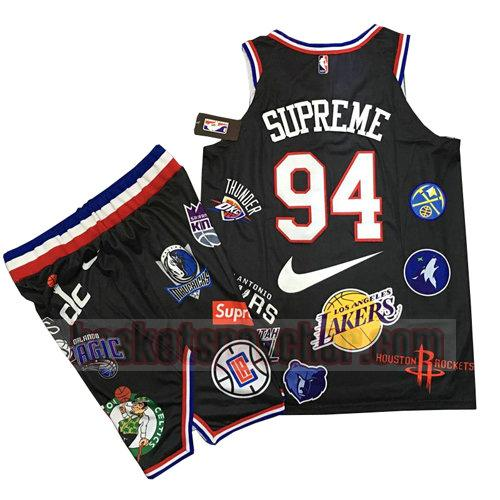 maillot supreme x nike 94 homme noir