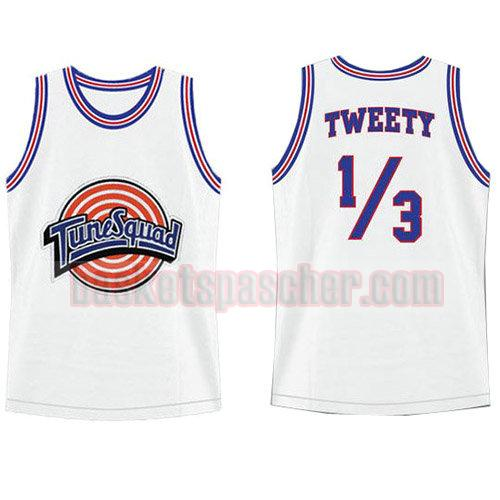 maillot tune squad Tweety 9 homme blanc