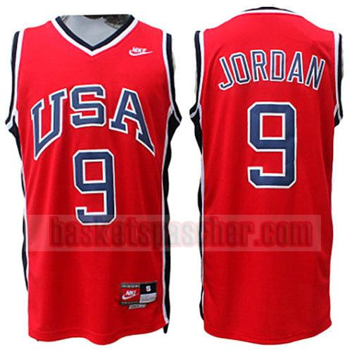 maillot usa 1984 Michael Jordan 9 homme rouge