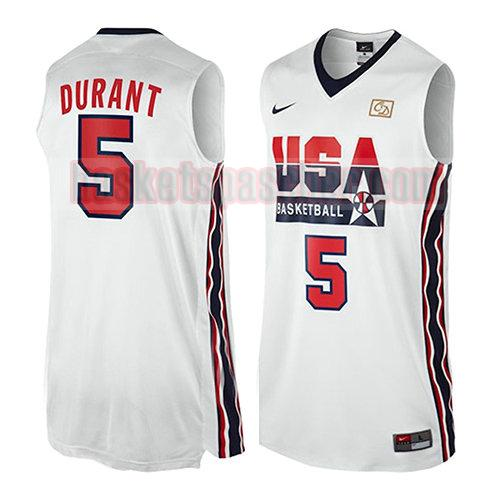 maillot usa 1992 Kevin Durant 5 homme blanc