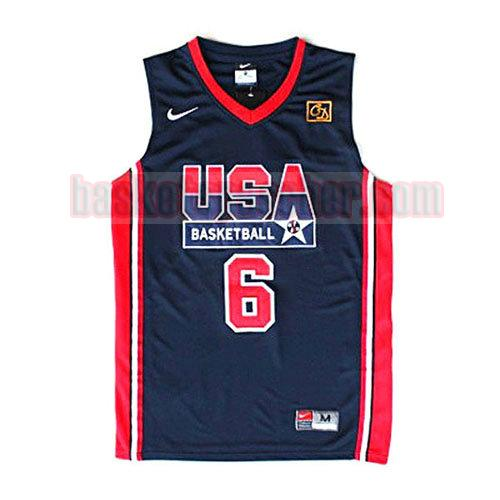 maillot usa 1992 Patrick Ewing 6 homme noir