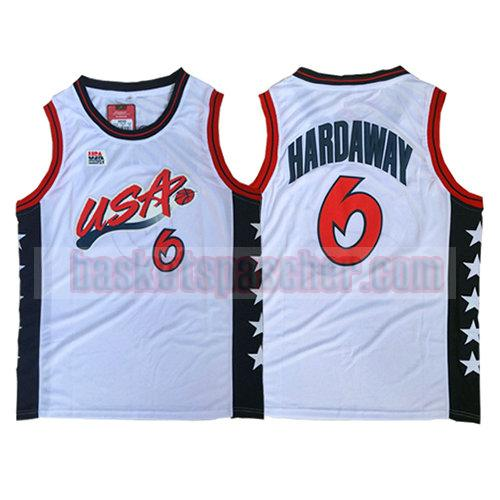 maillot usa 1996 Anfernee Hardaway 6 homme blanc