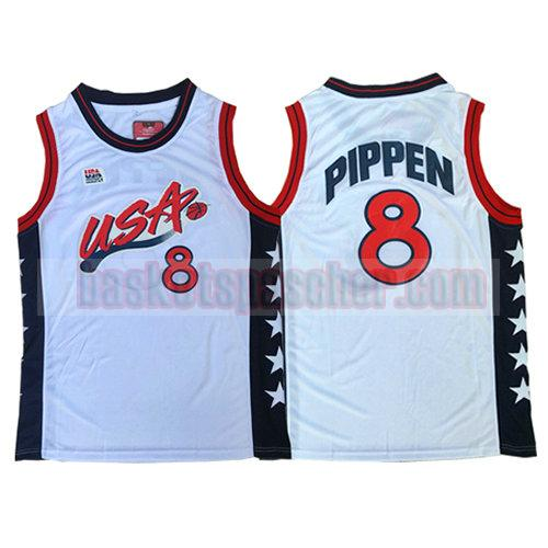 maillot usa 1996 Scottie Pippen 8 homme blanc