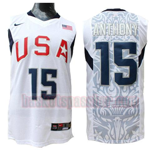maillot usa 2008 Anthony 15 homme blanc