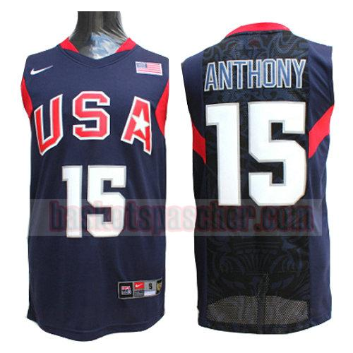 maillot usa 2008 Anthony 15 homme bleu