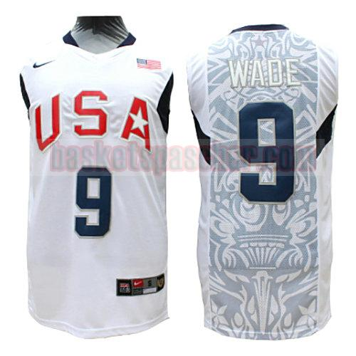 maillot usa 2008 Wade 9 homme blanc
