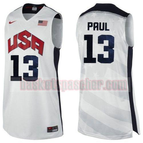maillot usa 2012 Chris Paul 13 homme blanc