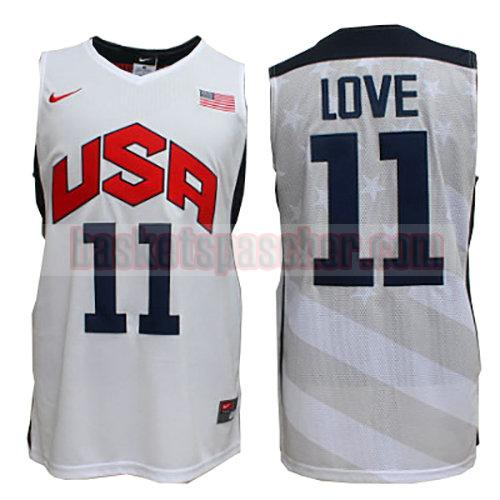 maillot usa 2012 Kevin Love 11 homme blanc