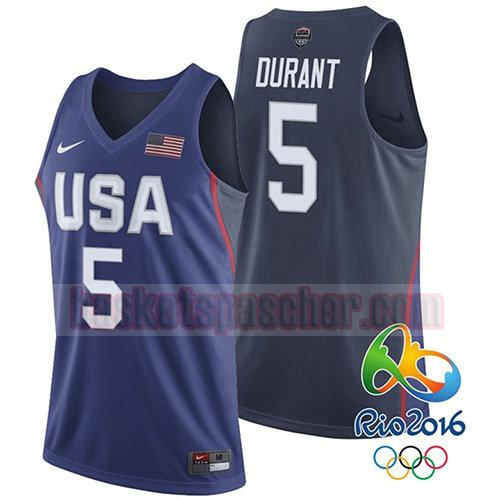 maillot usa 2016 Kevin Durant 5 homme bleu