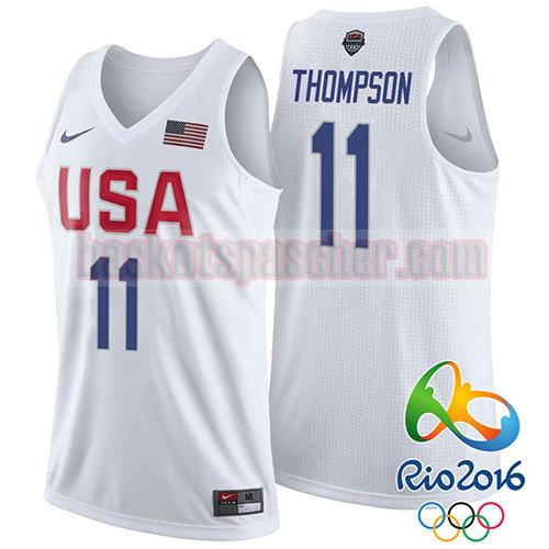 maillot usa 2016 Klay Thompson 11 homme blanc