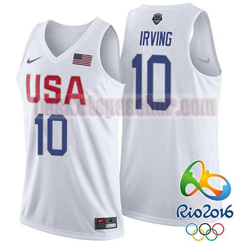 maillot usa 2016 Kyrie Irving 10 homme blanc