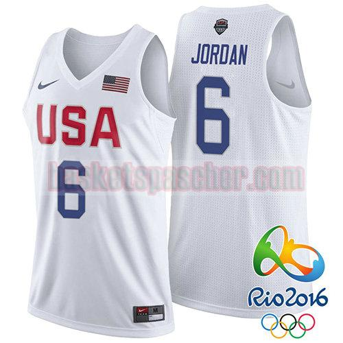 maillot usa 2016 Lebron James 6 homme blanc