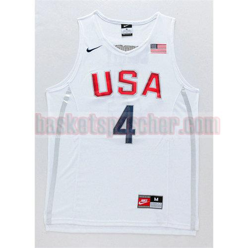 maillot usa 2016 Stephen Curry 4 homme blanc