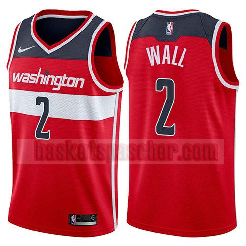 maillot washington wizards 2017-18 John Wall 2 homme rouge