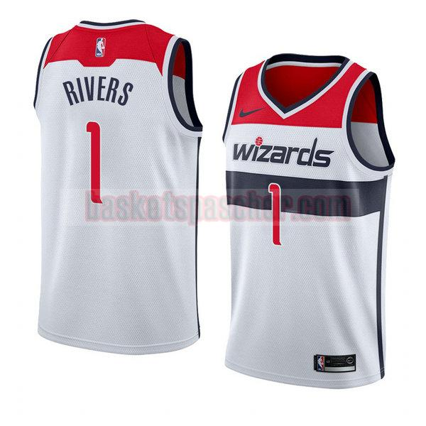 maillot washington wizards association 2018 Austin Rivers 1 homme blanc