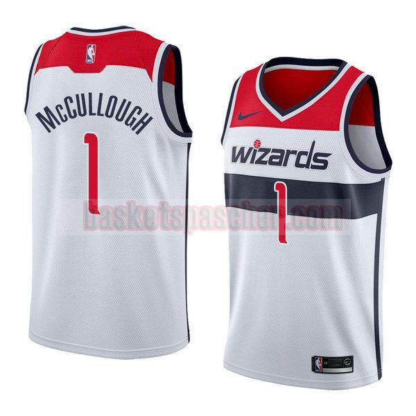 maillot washington wizards association 2018 Chris Mccullough 1 homme blanc