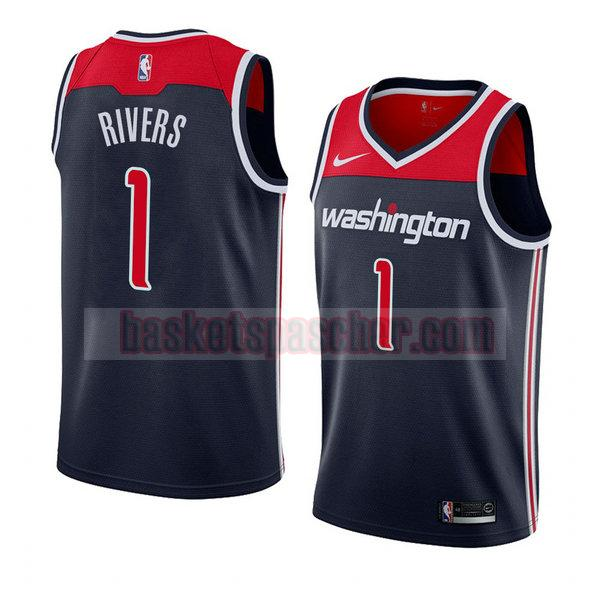 maillot washington wizards déclaration 2018 Austin Rivers 1 homme noir