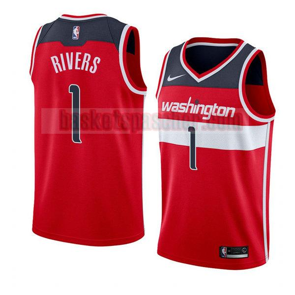 maillot washington wizards icône 2018 Austin Rivers 1 homme rouge