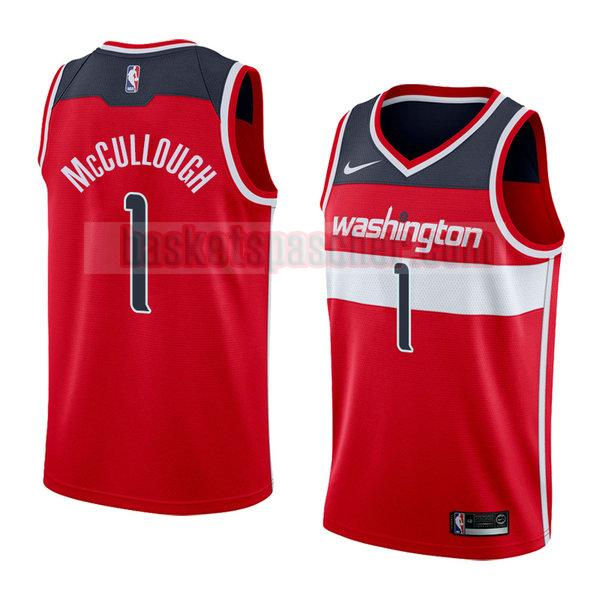 maillot washington wizards icône 2018 Chris Mccullough 1 homme rouge