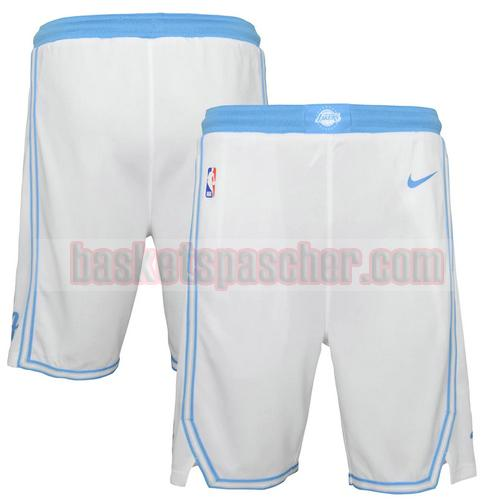 shorts Los Angeles Lakers city 2020-21 City Edition Homme Blanc