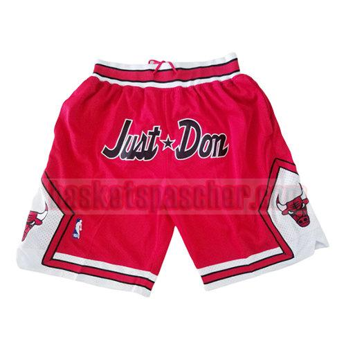shorts chicago bulls homme rouge