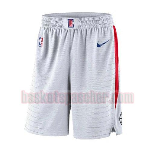 shorts los angeles clippers association 2018 homme blanc