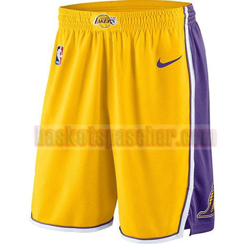 shorts los angeles lakers 2017-18 homme d'or
