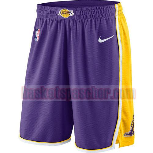 shorts los angeles lakers 2017-18 homme pourpre