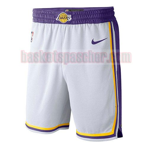 shorts los angeles lakers association 2018-19 homme blanc