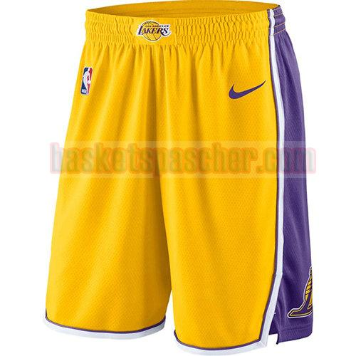 shorts los angeles lakers icône 2018-19 homme jaune