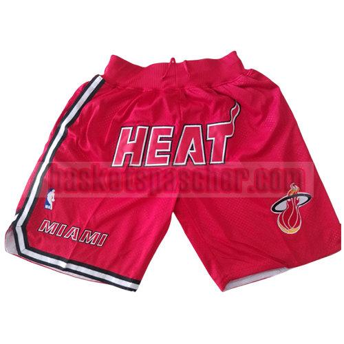 shorts miami heat just don homme rouge