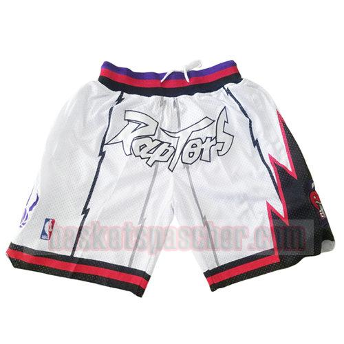 shorts toronto raptors just don homme blanc