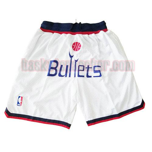 shorts washington wizards just don homme blanc